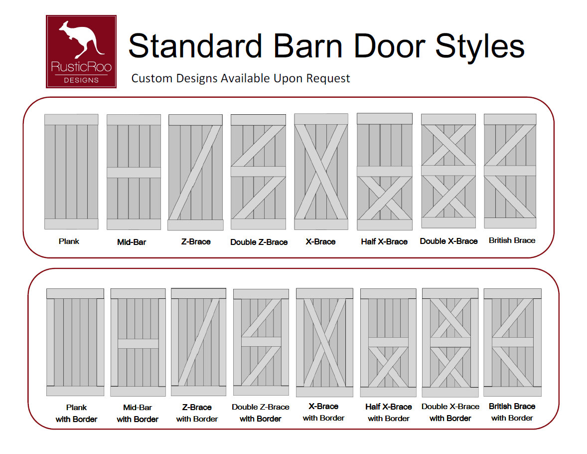 Standard door standard door version sc 1 th 194 Barn styles plans