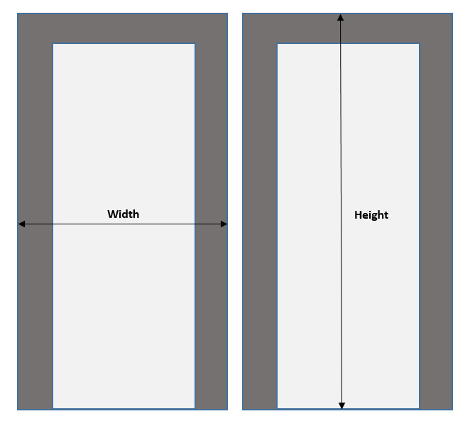 Doorway Measuring Sketch incl trim