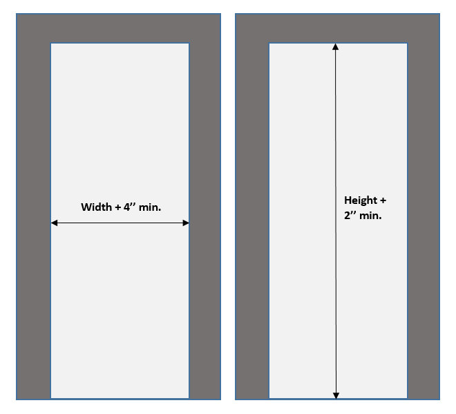 Doorway Measuring Sketch trim showing (1)